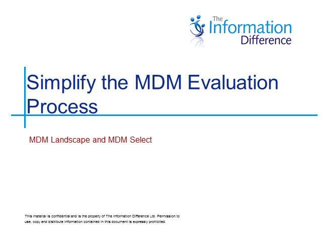 Simplify the MDM Solution Evaluation Process