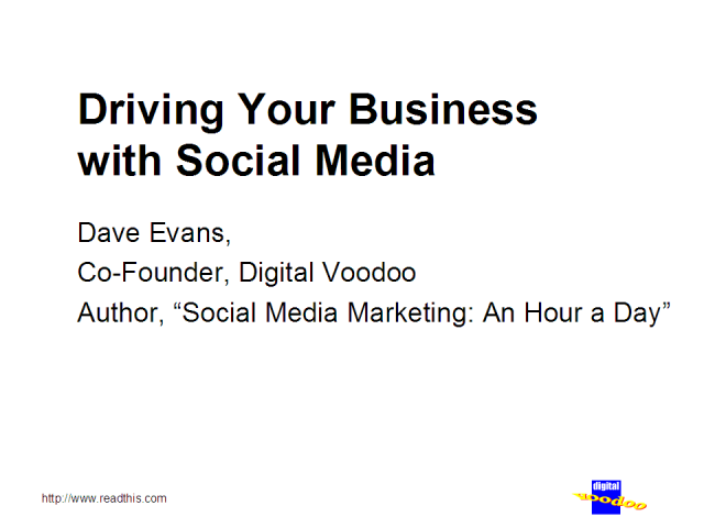 Driving Your Business with Social Media