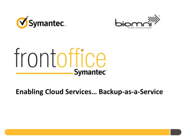 Symantec and Biomni partner to deliver Backup as a Service