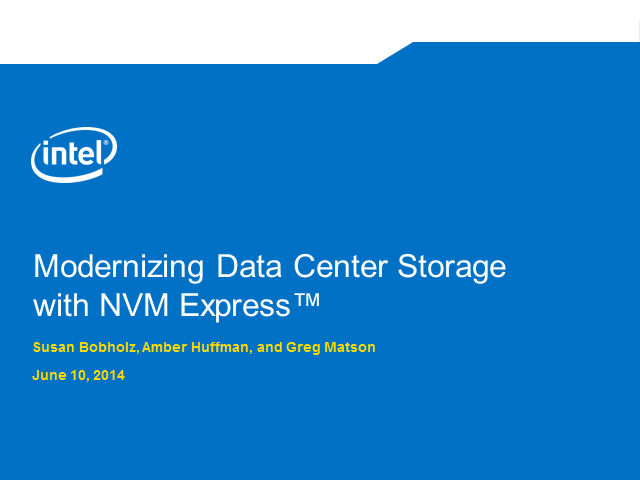 How You Can Deliver a More Reliable and Faster Data Center with NVM Express
