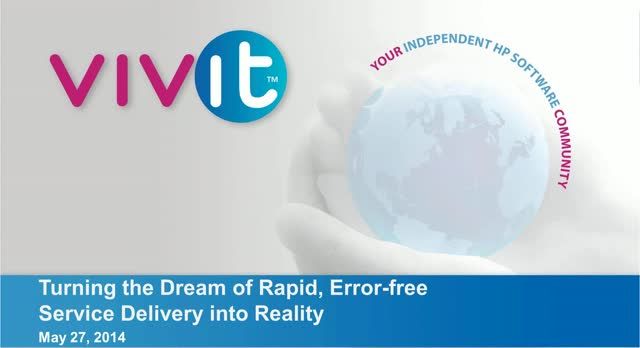Turning the Dream of Rapid, Error-free Service Delivery into Reality