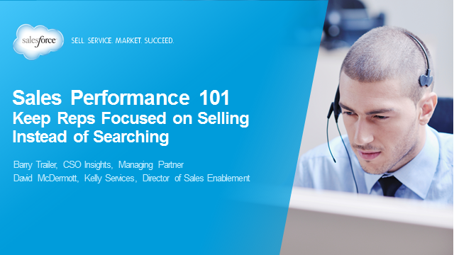 Sales Performance 101: Keep Reps Focused on Selling Instead of Searching