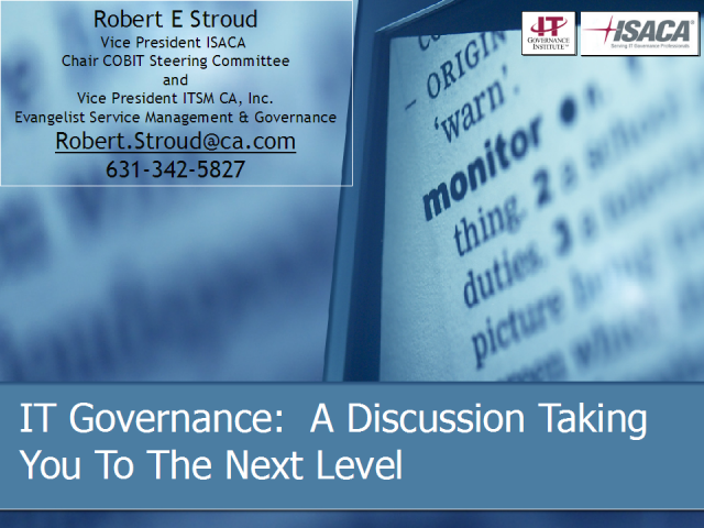 IT Governance - Taking You to the Next Level