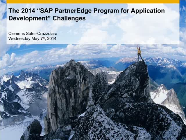 Win Big with the SAP PartnerEdge for Application Development Challenges!