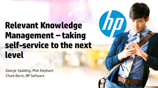 Relevant Knowledge Management – taking self-service to the next level
