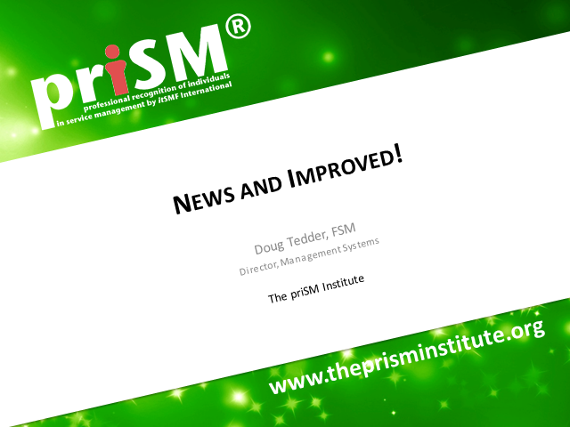 priSM - News and Improved