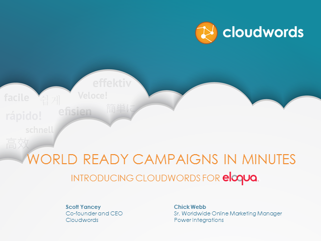 How to Rule the World - Global Demand Generation with Oracle Eloqua