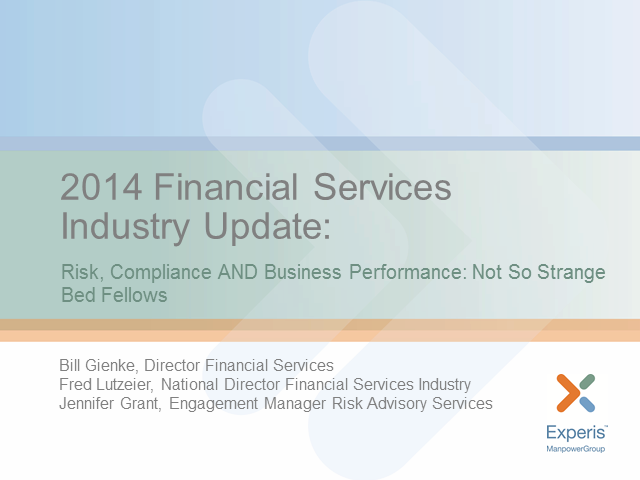 Risk, compliance AND business performance: not so strange bed fellows