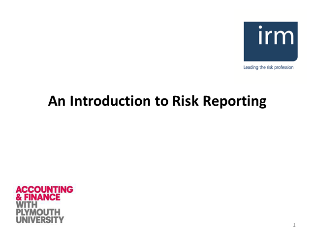 An Introduction to Risk Reporting