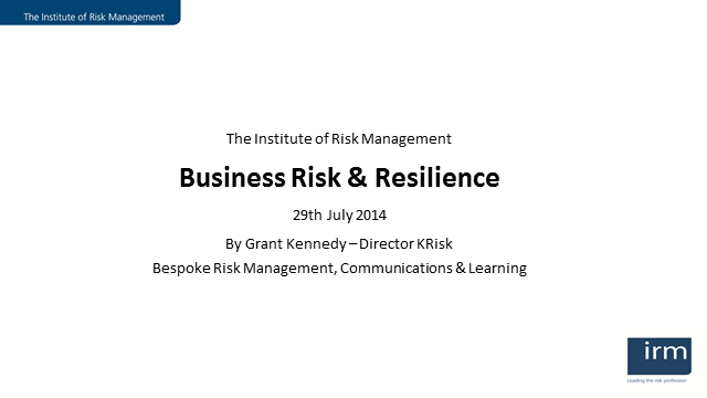 Business Risk and Resilience
