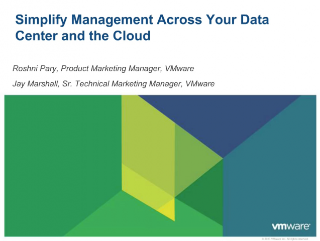 Simplify Management Across Your Data Center and the Cloud