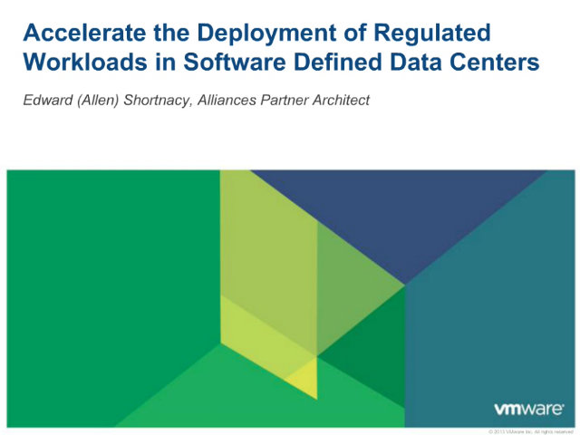 Accelerate the Deployment of Regulated Workloads in Cloud Infrastructure