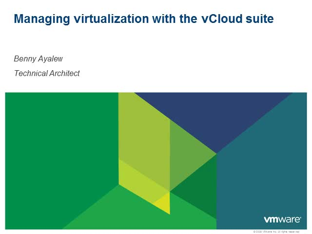 Managing Virtualization with the vCloud Suite