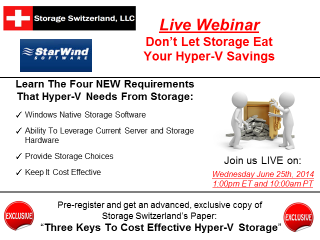 Live Panel Discussion - Don't Let Storage Eat Your Hyper-V Savings