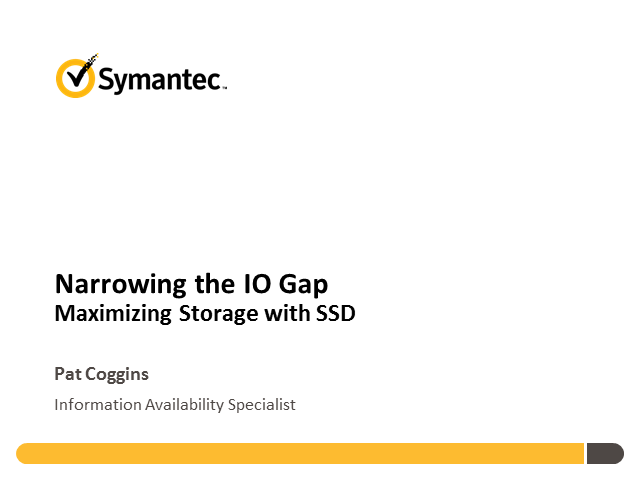 Narrowing the I/O Gap: Maximising Storage with SSD