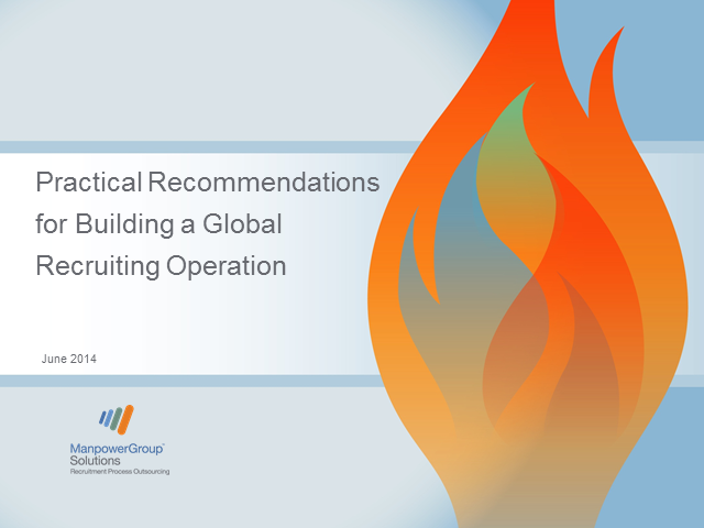 Practical Recommendations to Build a Global Recruiting Operation