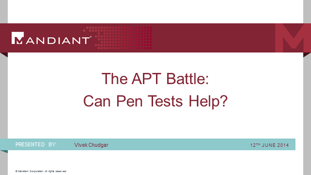 The APT Battle - Can Pen Tests Really Help?