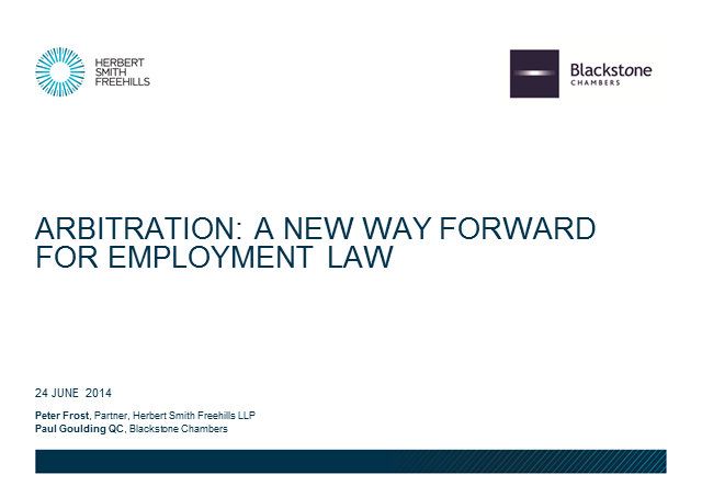 Arbitration in the UK of Employment Disputes