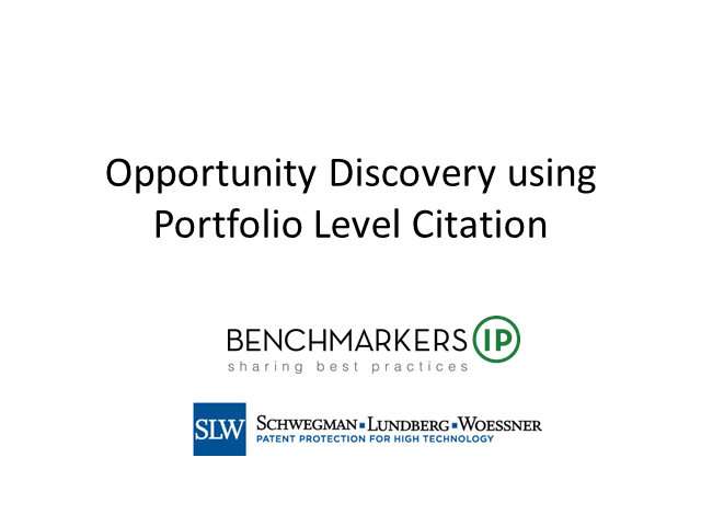 Create Opportunity with Citation Analysis