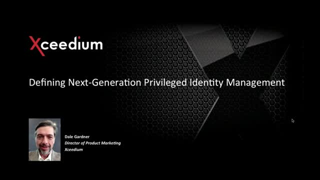 Defining Next-Generation Privileged Identity Management