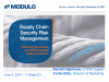 Supply Chain Security Risk Management