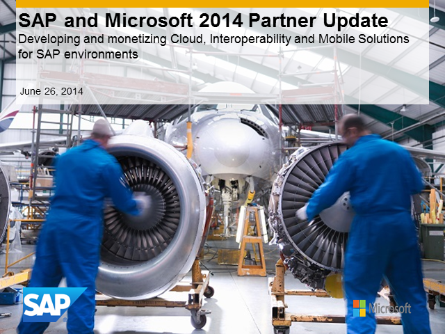SAP and Microsoft: Business Opportunity Webcast