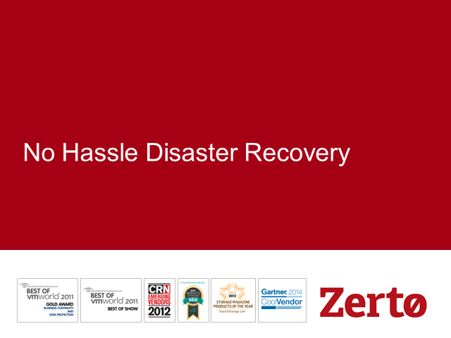 Benchmarks For Choosing the Right Disaster Recovery Solution