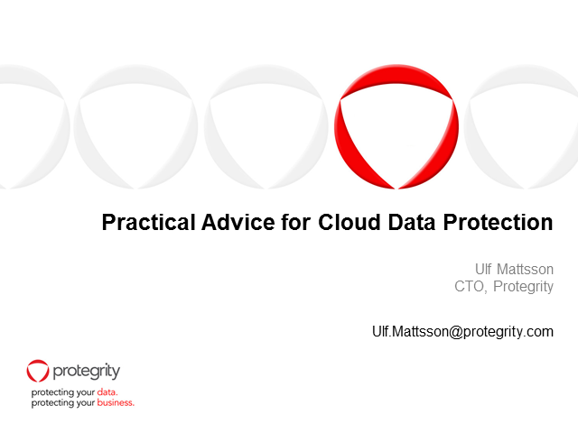 Practical Advice for Cloud Data Security