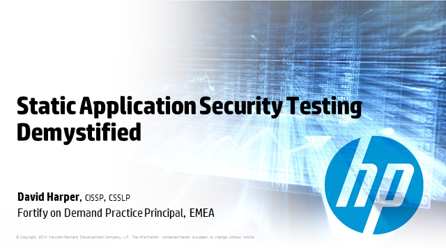 Static Application Security Testing Demystified