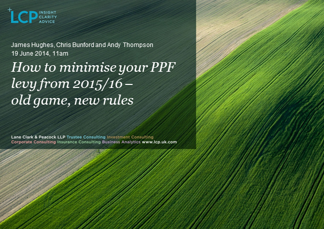 How to reduce your PPF levy from 2015/16 - old game, new rules
