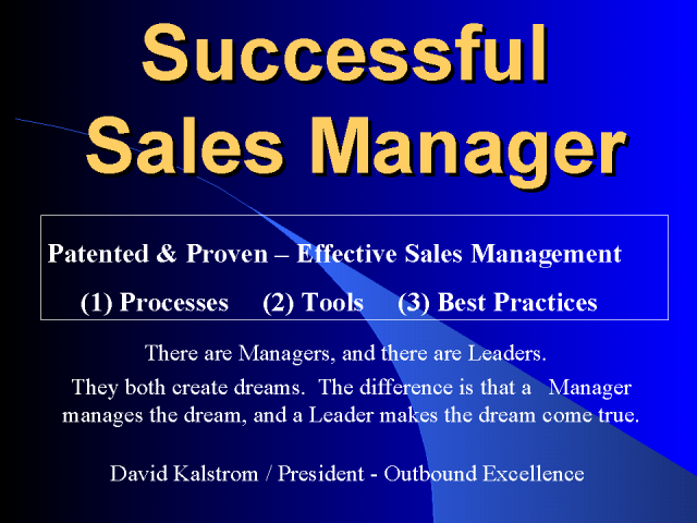 Pre-Release: 2009 Successful Sales Manager's Toolkit