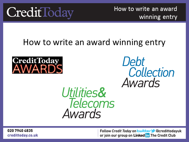 How to write an award winning entry