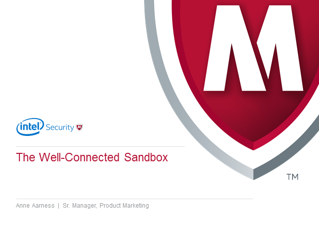 A well connected sandbox: Why it matters