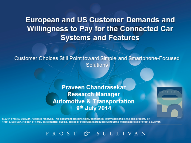 European and US Customer Demands and Willingness to Pay for the Connected Car