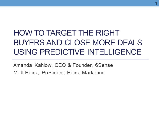 How to target the right buyers & close more deals using predictive intelligence