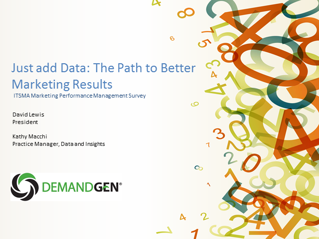 Just Add Data: The Path to Better Marketing Results