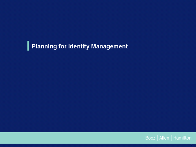 Planning for Identity and Access Management