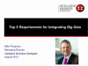 The Top 5 Requirements for Integrating Big Data