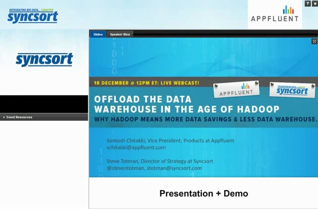 Offloading the Data Warehouse in the Age of Hadoop