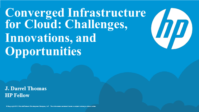 Converged Infrastructure for Cloud: Challenges, Innovations and Opportunities