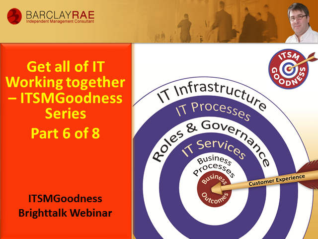 Get All of IT Working Together - ITSM Goodness Series - Part 6 of 8