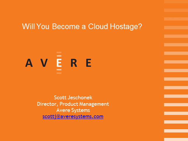 Will You Become a Cloud Hostage?