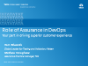 Role of Assurance in DevOps:Your part in driving superior customer experience