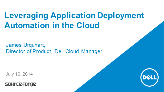 Leveraging Application Deployment Automation in the Cloud