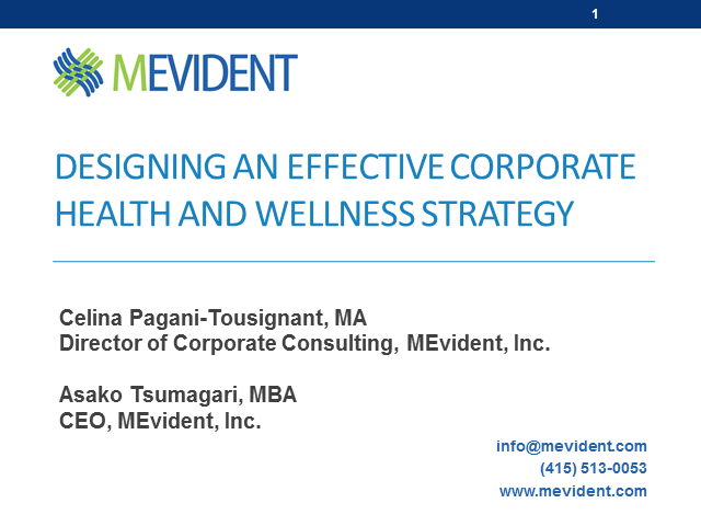 Designing an Effective Corporate Health and Wellness Strategy