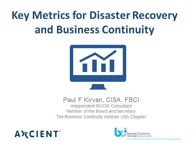 Key Metrics for Disaster Recovery and Business Continuity