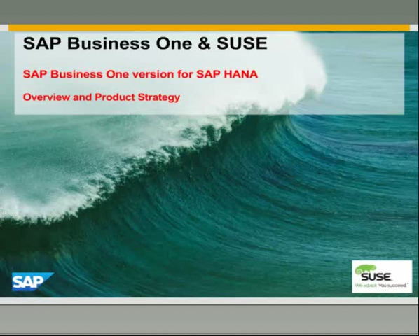 SUSE Technical Webinar – Build B1 apps in the Framework of SAP and SUSE