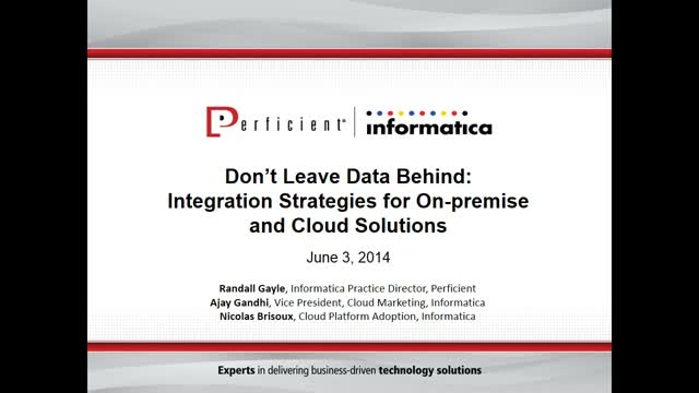 Integration Strategies for On-premise and Cloud Solutions
