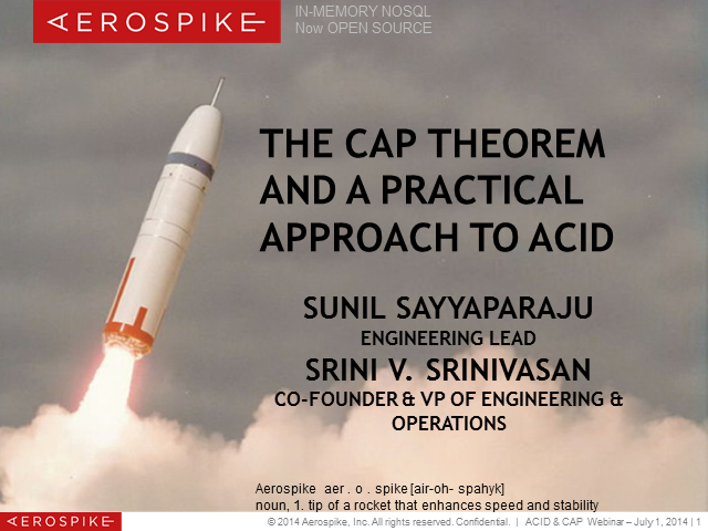 The CAP Theorem and a practical approach to ACID