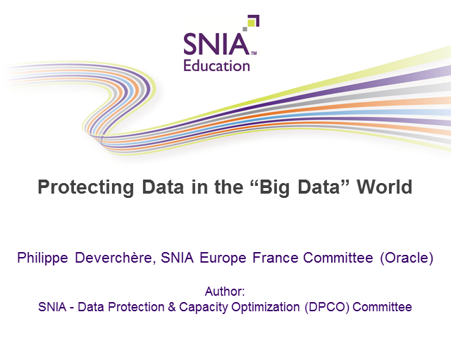 Protecting Data in a Big Data World